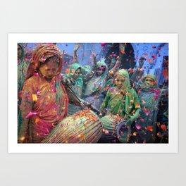 Holi celebrations in India  Art Print