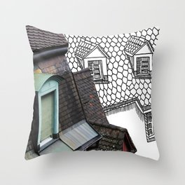 Rooftop Part I Pastiche  Throw Pillow