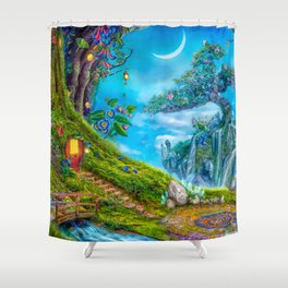 Day Moon Haven Shower Curtain