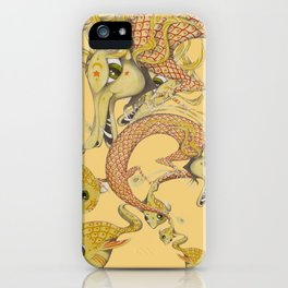 Dragon with fish iPhone Case