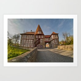 Roedelseer Tor in Iphofen Art Print