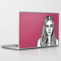 cara delevingne Laptop & iPad Skins featuring Cara Delevingne by Sharin Yofitasari