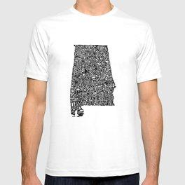 Typographic Alabama T-shirt