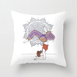 Yoga Girl Mandala Throw Pillow
