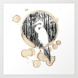 Coffee Stained Egret-Louisiana Series Art Print