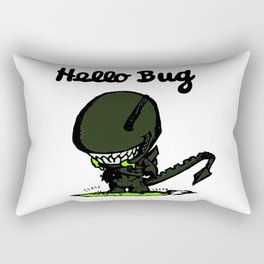 Hello Bug Rectangular Pillow