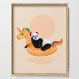 Chillin (Unicorn Panda) Serving Tray
