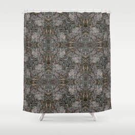Feathers and bones -Desert sand Shower Curtain