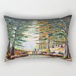 Bridge in the forest Rectangular Pillow