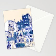 Blue Buildings Stationery Cards