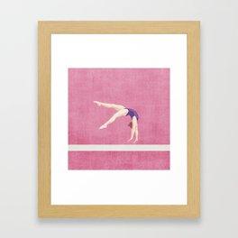 SUMMER GAMES / artistic gymnastics Framed Art Print