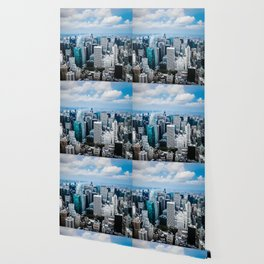 From New York to the Sky at the Manhattan Big Apple Dream Wallpaper