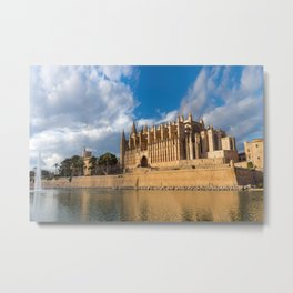 Cathedral of Palma de Mallorca Golden hour Timelapse Metal Print