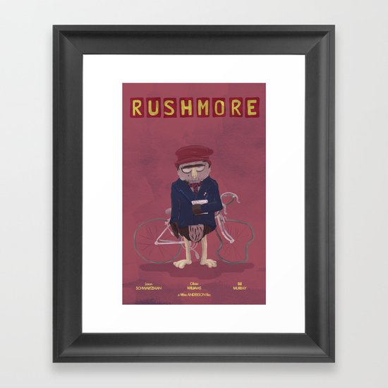 more of a rush Framed Art Print