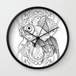 Rising Goldfish Wall Clock