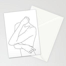 Woman's body minimal illustration - Dakota Stationery Cards