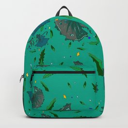 Angry Little Fish Pattern Backpack