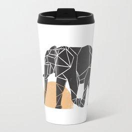 Geometric Elephant Travel Mug