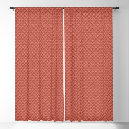 Pantone Living Coral Small Scallop, Wave Pattern Blackout Curtain