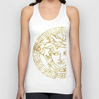 versace Tank Tops featuring Medusa by InteriorEpiphanies