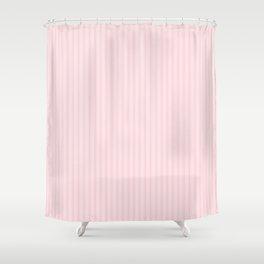 Pale Millennial Pink Pastel Color Mattress Ticking Stripes Shower Curtain