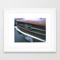 mustang Framed Art Prints featuring Mustang by IAMREBEL