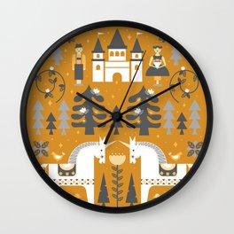 Yellow + Gray Fairy Tale Wall Clock
