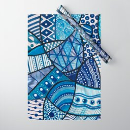 Doodly Do (in blue) Wrapping Paper