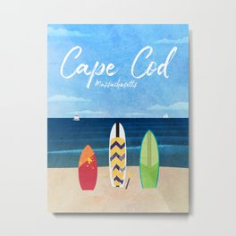 Cape Cod Travel Poster Metal Print