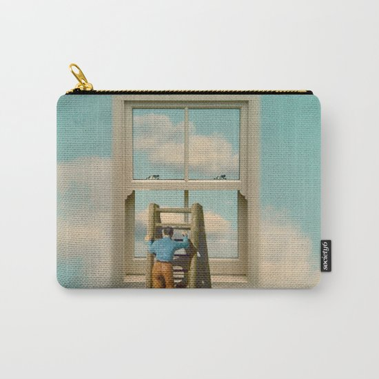 Window cleaner in the sky 02 Carry-All Pouch