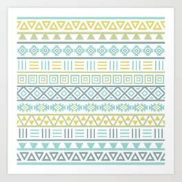 Aztec Influence Ptn Colorful Art Print