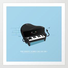 The happy piano Art Print
