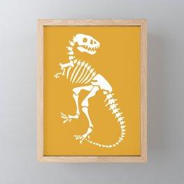 Dinosaur Fossils on Mustard Yellow Framed Mini Art Print