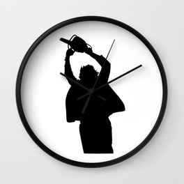 Chainsaw massacre silhouette Wall Clock