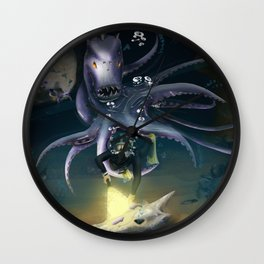 The Depths of the Ocean Wall Clock