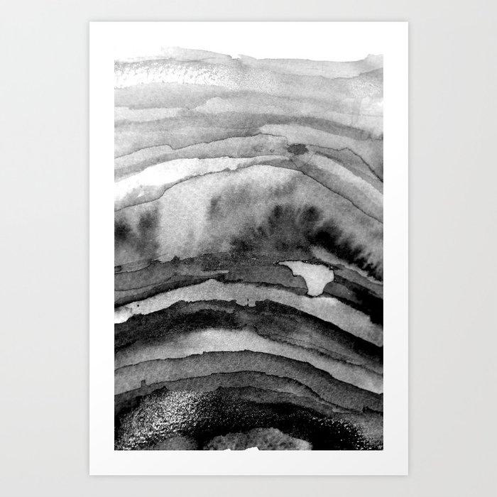 Layers Black and White Art Print