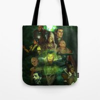 dragon age inquisition Tote Bags featuring The Inquisition by Nero749