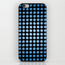 Halftone Blue iPhone Skin