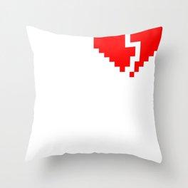 broken pixel heart Throw Pillow