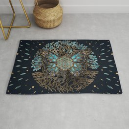 Flower of Life - Tree of life - Butterfly Rug