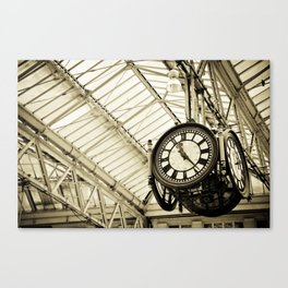 Train Station Clock Canvas Print