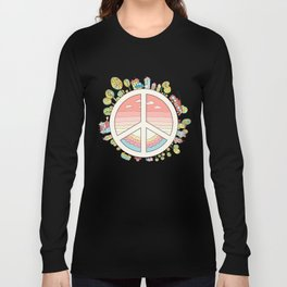 peaceful bright Pacific planet Long Sleeve T-shirt