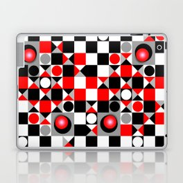 Cute Patterns in red, black and grey Laptop & iPad Skin