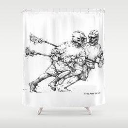 Run & Gun (The Art of Lax™) Shower Curtain