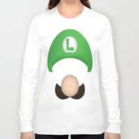 luigi Long Sleeve T-shirts featuring Luigi by Aaron Macias