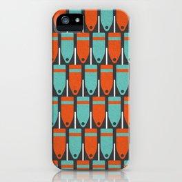 Buoys, Orange & Blue iPhone Case
