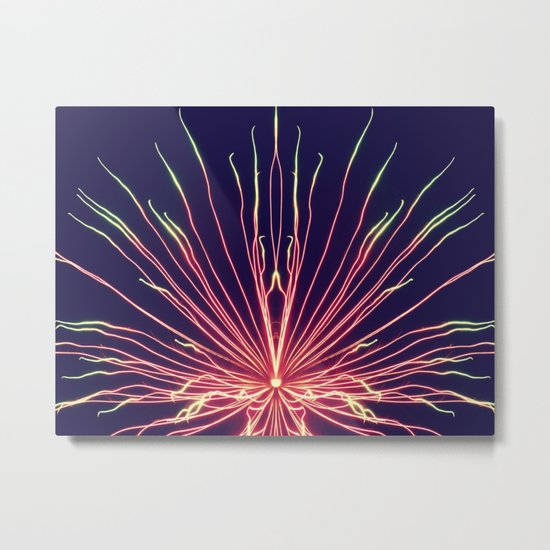 Watermelon Burst Metal Print
