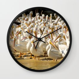 white flocks Wall Clock