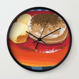 Pancakes Week 15 Wall Clock