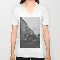 berlin V-neck T-shirts featuring Berlin by Jane Lacey Smith